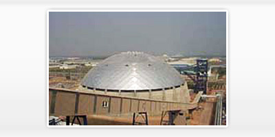 Aluminum Dome for coal storage.